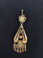 Medium earrings - Drop/1 Flower