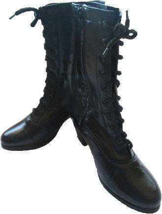 Women Dance Folkloric Boots (Black & White)