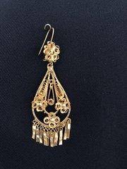 Medium earrings - Drop/3 Flowers