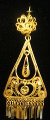 Medium earrings- Gold Triangle