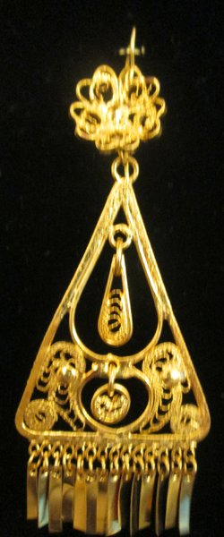 Medium earrings- Gold Triangle