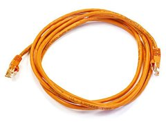 Cable - Cat5e 24AWG UTP Ethernet Network Patch Cable, 7ft Orange
