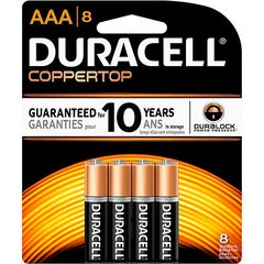 Battery - Duracell Coppertop AAA Duralock 4-Pack
