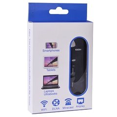 Video - Wireless Display Cast Screen Receiver w/HDMI, AirPlay/Miracast Mirroring (Black)