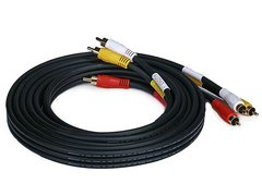 Video - RCA Coaxial Composite Video and Stereo Audio Cable, 10ft