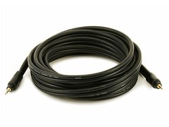 Audio - 15ft Premium 3.5mm Stereo Male to 3.5mm Stereo Male 22AWG Cable (Gold Plated) - Black