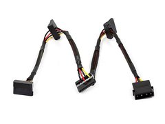 PC - 24inch 4pin MOLEX Male to (4) 15pin SATA II Female Power Cable (Net Jacket)