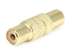 Audio - Metal RCA Jack to RCA Jack Adaptor - Gold Plated Product Number 7179