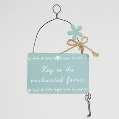 Key To The Enchanted Forest Plaque