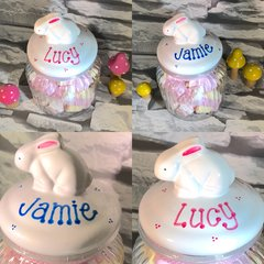 Personalised Bunny Easter Marshmallow Jar