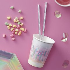 8 Iridescent Party Cups