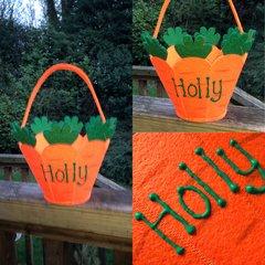 Personalised Felt Easter Basket