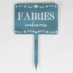Fairies Welcome Wooden Garden Sign