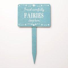 Fairies Sleep Here Wooden Garden Sign