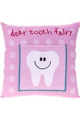 Tooth Fairy Pillow - Pink Tooth Design
