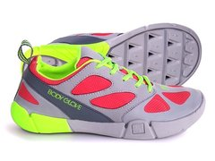 Body Glove Wms Swoop Beach Runner water shoe Grey Peach sz8