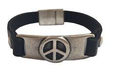 Peace Bar all leather Bracelet