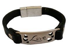 Love Bar all leather Bracelet