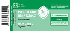 CBD Green Label (raw) Extract - 3 grams