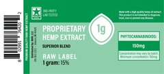 CBD Green Label (raw) Extract - 1 gram
