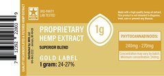 CBD Gold Label (decarboxylated and filtered) Extract - 1 gram
