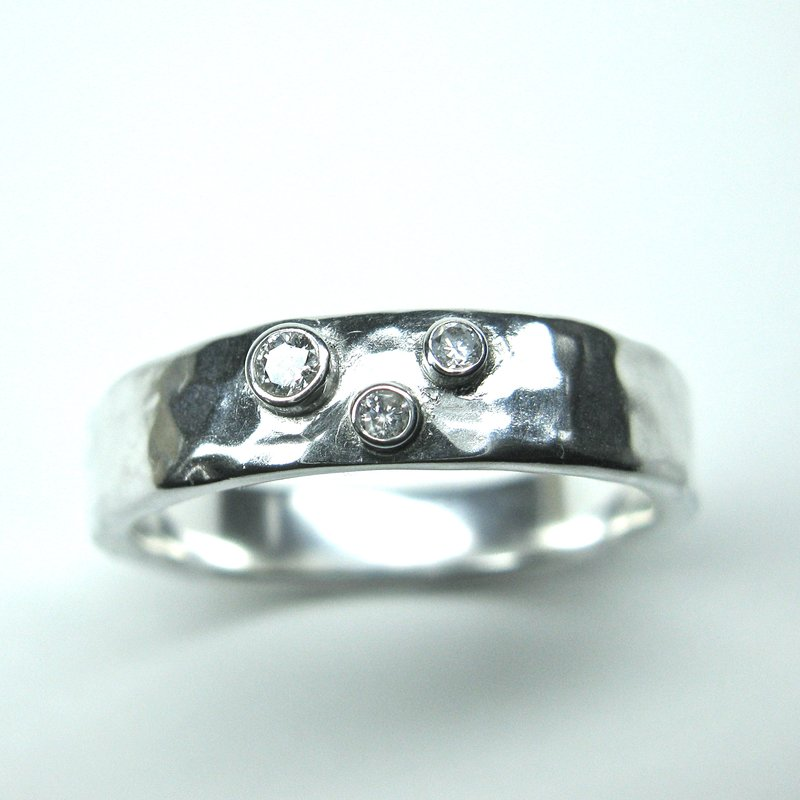patina pin in white diamond ring raw platinum band elegance palladium reed todd
