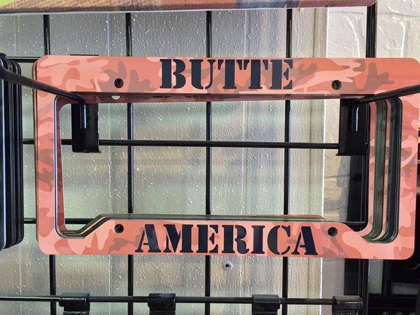 Camo License Plate Frame   Butte Stuff
