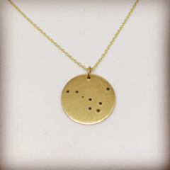 Solid gold zodiac constellation necklace