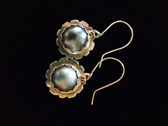 Blue Mabe Pearls set in Sterling Silver