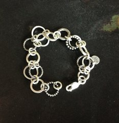 Handmade Bracelet Antique Chain Sterling Silver