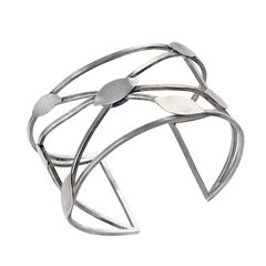 Sterling Silver Cuff with Leaves