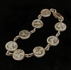 Sterling Silver Coin Bracelet