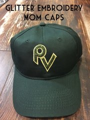 Mom Caps (Glitter and Embroidery)