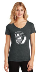 LADIES Perfect Tri Made V-Neck T-Shirt with Vegas Flyers RUDY Logo