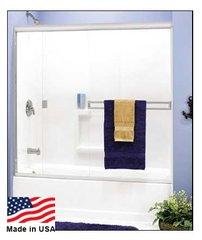 """Contractors Wardrob Frameless Bi-Pass 60"""" tub door Bright Gold - #2000"""
