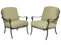 Edington Cast Back Pair of Patio Lounge Chairs