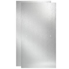Delta 60 in. Sliding Bathtub Door Glass Panels in Rain (1-Pair) - #155139