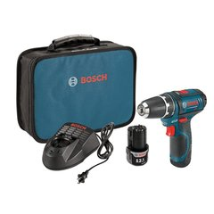 Bosch 12 Volt Lithium-Ion Cordless 3/8 in. Variable Speed Drill/Driver Kit with 2 Ah Batteries, Charger and Soft Case - PS31-2A