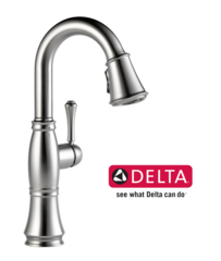 Delta Cassidy Single-Handle Pull-Down Sprayer Bar Faucet in Arctic Stainless - 9997-AR-DST