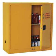"""CONDOR 30 gal. Flammable Cabinet, 44"""" x 43"""" x 18"""", Manual Door Type - 42X499"""