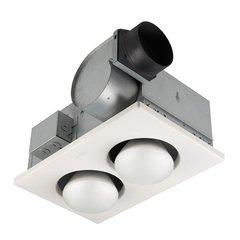 70 CFM Ceiling Exhaust Fan with 2 - 250-Watt Infrared Bulb Heater