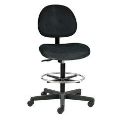 """BEVCO Black Fabric Task Chair 15"""" Back Height, Arm Style: No Arms - V4507CC BLACK"""