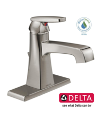 Delta Ashlyn Single Hole Single-Handle Bathroom Faucet with Metal Drain Assembly in Stainless - 564-SSMPU-DST