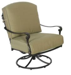 Edington Swivel Rocker Patio Lounge Chair with Celery Cushion