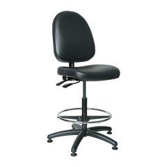 """BEVCO Black Vinyl Task Chair 19"""" Back Height, Arm Style: No Arms - 6501"""