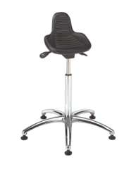 """BEVCO Sit/Stand Stool with 20"""" to 30"""" Seat Height Range and 300 lb. Weight Capacity, Black - 3555"""