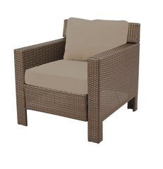 Beverly Patio Deep Seating Lounge Chair with Beverly Beige Cushions