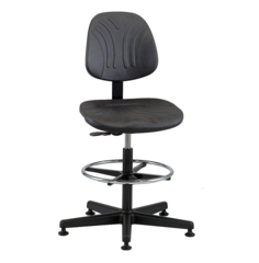"""BEVCO Black Polyurethane Task Chair 14-1/2"""" Back Height, Arm Style: No Arms - 7500D"""