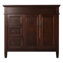 Ashburn 36 in. W x 21.5 in. D x 34 in. H Vanity Cabinet Only in Mahogany