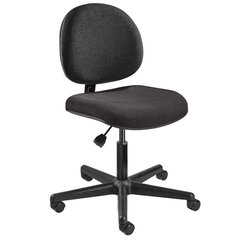 """BEVCO Black Fabric Task Chair 15"""" Back Height, Arm Style: No Arms - V4007HC-BK"""
